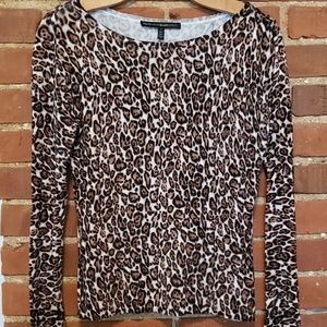 WHBM Cheetah Sweater